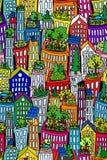 Tejados inconsútiles de cityscape2-green Imagenes de archivo
