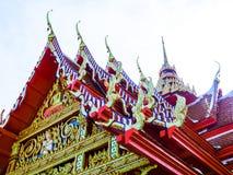 Tejados llanos multi de la arquitectura antigua tailandesa Foto de archivo