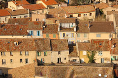 Tejados pintorescos en el pueblo Carcasona francia fotografía de archivo libre de regalías