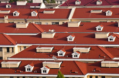 Tejados rojos de Shangai Imágenes de archivo libres de regalías