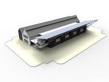 Tejados rurales del panel solar libre illustration
