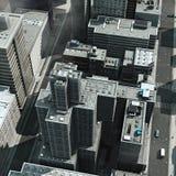 Tejados urbanos ilustración del vector