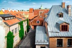 Tejados viejos de la ciudad de Riga Imagen de archivo libre de regalías