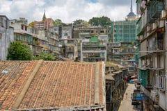 Tejados viejos de Macao fotos de archivo