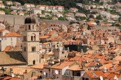 tejados Vista de la ciudad vieja dubrovnik Croacia Imagen de archivo libre de regalías
