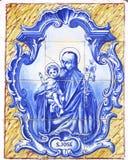 Tejas azules portuguesas del vintage Imagen de archivo libre de regalías