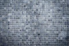 Tejas azules texturizadas de la pared Imagenes de archivo