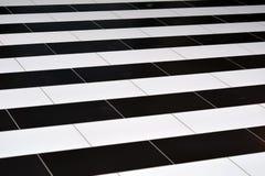 Tejas blancos y negros en el piso Fotos de archivo libres de regalías