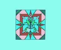 Tejas con las flores ilustración del vector