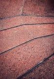 Tejas concretas rojas Foto de archivo