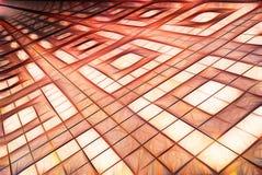 Tejas cuadradas estilizadas del fondo abstracto libre illustration