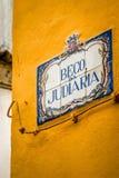 Tejas de la calle de Sintra Imagenes de archivo
