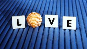 Tejas de la letra de amor Fotos de archivo libres de regalías