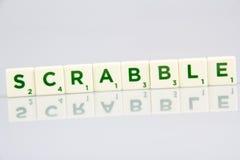 Tejas de la letra del Scrabble Imagenes de archivo
