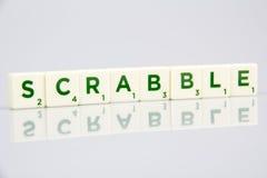 Tejas de la letra del Scrabble Fotos de archivo libres de regalías