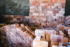 Tejas de la sal de roca fotografía de archivo
