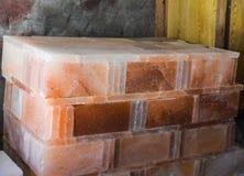 Tejas de la sal de roca Imágenes de archivo libres de regalías