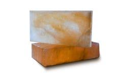 Tejas de la sal de roca imagenes de archivo