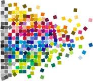 Tejas de mosaico cuadradas del confeti ilustración del vector