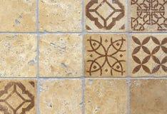 Tejas de mosaico dentro de la cocina Fondo del mosaico de las baldosas cerámicas foto de archivo libre de regalías