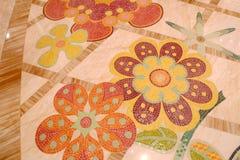 Tejas de mosaico florales de Macao Wynn Palace Hotel Imagen de archivo libre de regalías