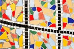 Tejas de mosaico rotas multicoloras Fotografía de archivo libre de regalías