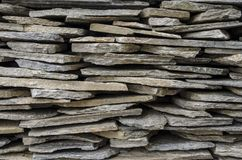 Tejas de piedra empiladas Fotografía de archivo