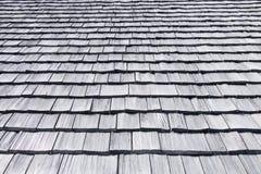 Tejas de techumbre de madera Imagen de archivo libre de regalías