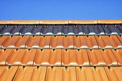 Tejas de tejado Foto de archivo libre de regalías