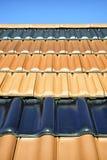 Tejas de tejado Fotografía de archivo