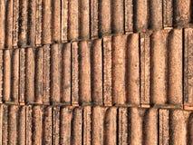 Tejas de tejado antiguas para el fondo Imagen de archivo
