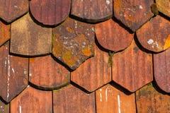 Tejas de tejado, cierre encima de la visión Fotos de archivo