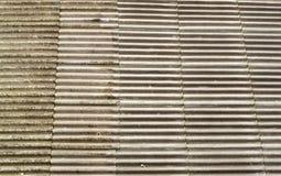 Tejas de tejado concretas del amianto Foto de archivo libre de regalías