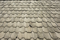Tejas de tejado de madera Foto de archivo libre de regalías