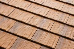 Tejas de tejado de madera Imágenes de archivo libres de regalías