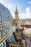 Tejas de tejado de St Stephen ' catedral de s, Viena, Austria Foto de archivo libre de regalías