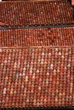 Tejas de tejado de una casa italiana en Bolonia Imagen de archivo libre de regalías
