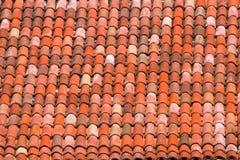 Tejas de tejado de una casa italiana en Bolonia Fotografía de archivo libre de regalías