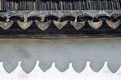 Tejas de tejado del chino tradicional en la ciudad vieja del ` s de Suzhou, provincia de Jiangsu, China Imagen de archivo