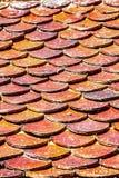 Tejas de tejado del ladrillo Imagen de archivo