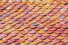 Tejas de tejado del ladrillo Fotografía de archivo libre de regalías