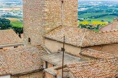 Tejas de tejado en el campo de Romagna en Italia Imagen de archivo libre de regalías
