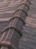 Tejas de tejado, fila Foto de archivo libre de regalías