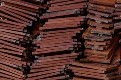 Tejas de tejado hechas de terracota Imágenes de archivo libres de regalías