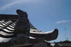 Tejas de tejado japonesas Foto de archivo libre de regalías