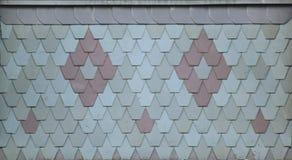 Tejas de tejado ornamentales Foto de archivo libre de regalías