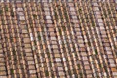 Tejas de tejado romanas Imagen de archivo