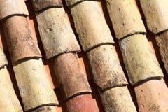 Tejas de tejado viejas de la arcilla de Dubrovnik Fotografía de archivo libre de regalías