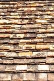 Tejas de tejado viejas del ladrillo Imagen de archivo