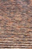 Tejas de tejado viejas del ladrillo Imagen de archivo libre de regalías